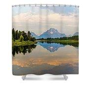 Grand Teton's Reflection Shower Curtain