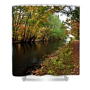Grand Western Canal At Westcott Shower Curtain