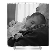 Grandfather And Granddaughter Shower Curtain