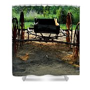 Grandfathers Buggy Shower Curtain