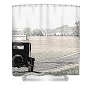 Grandfathers Coach Shower Curtain