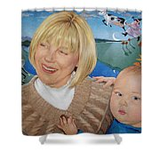 Grandma And Kaidin Shower Curtain