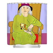 Grandma And Puppy Shower Curtain