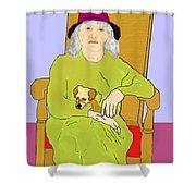 Grandma And Puppy Shower Curtain