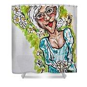 Grandma Hippie Shower Curtain