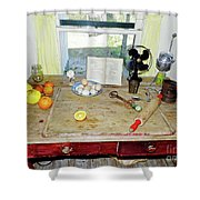 Grandma's Baking Table Shower Curtain