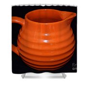Grandmas Orange Juice Pitcher Shower Curtain