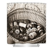 Grandma's Sewing Basket Shower Curtain