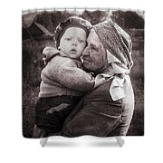Grandmother And Child Shower Curtain