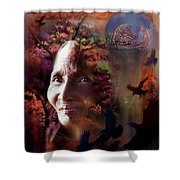 Grandmother Crow Shower Curtain