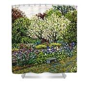 Grandmother's Garden Spring Blossoms Shower Curtain