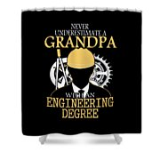 Grandpa Engineer Shower Curtain