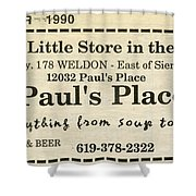 Grandparents Old Country Store Ad Shower Curtain