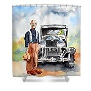 Grandpa's Chevy Shower Curtain
