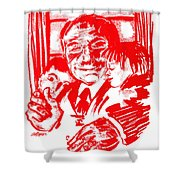 Grandpa's Lap Shower Curtain