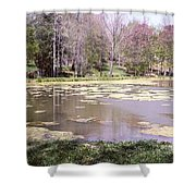 Grandpa's Pond Shower Curtain