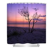 Grandview Beach Sunrise Shower Curtain