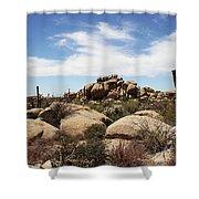 Granite Boulders And Saguaros  Shower Curtain