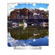 Granite Dells Reflection Shower Curtain