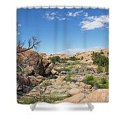 Granite Dells Rocky Terrain  Shower Curtain