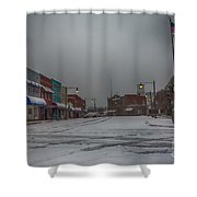 Granite Falls Snow Shower Curtain