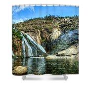 Granite Mountain Waterfall Panorama Shower Curtain
