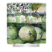 Granny Smith Apples Shower Curtain