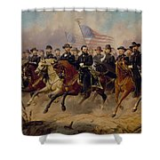 Grant And His Generals Shower Curtain