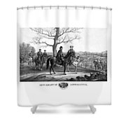 Grant And Lee At Appomattox Shower Curtain