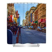 Grant Street In Chinatown Shower Curtain