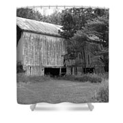 Granville Barn Bw Shower Curtain