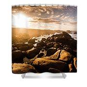 Granville Harbour Tasmania Sunrise Shower Curtain