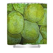 Grape Abstract Shower Curtain