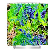Grape Leaves Shower Curtain