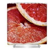 Grapefruit Halves Shower Curtain