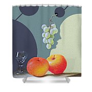 Grapes And Apples Shower Curtain