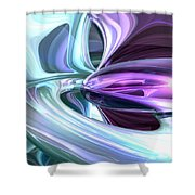 Grapes And Cream Abstract Shower Curtain