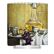 Grapes And Cristals Shower Curtain