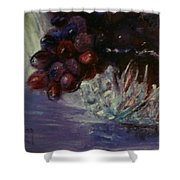 Grapes And Glass Shower Curtain
