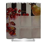 Grapes And Pear Shower Curtain