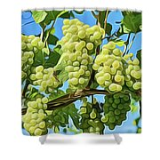 Grapes Not Wrath Shower Curtain