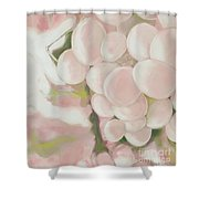 Grapes Powder Pink Shower Curtain