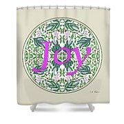 Graphic Designs Button Joy Shower Curtain