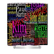 Graphic Prime Ministers Shower Curtain