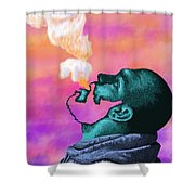 Graphic Vape Shower Curtain