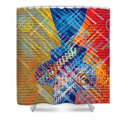 Graphics - Voiceprint, Read My Lips Shower Curtain