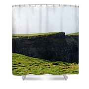 Grass Fields Surrounding The Cliff's Of Moher Shower Curtain