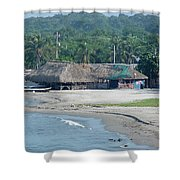 Grass Huts Colombia Shower Curtain