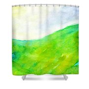 Grass In The Nature Shower Curtain