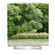 Grasses And Trees Shower Curtain